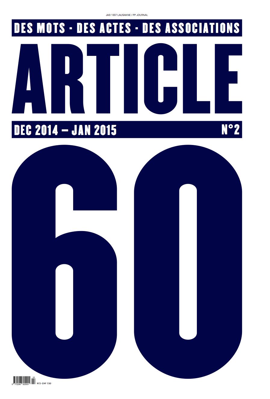 Article 60 N°2 UNE