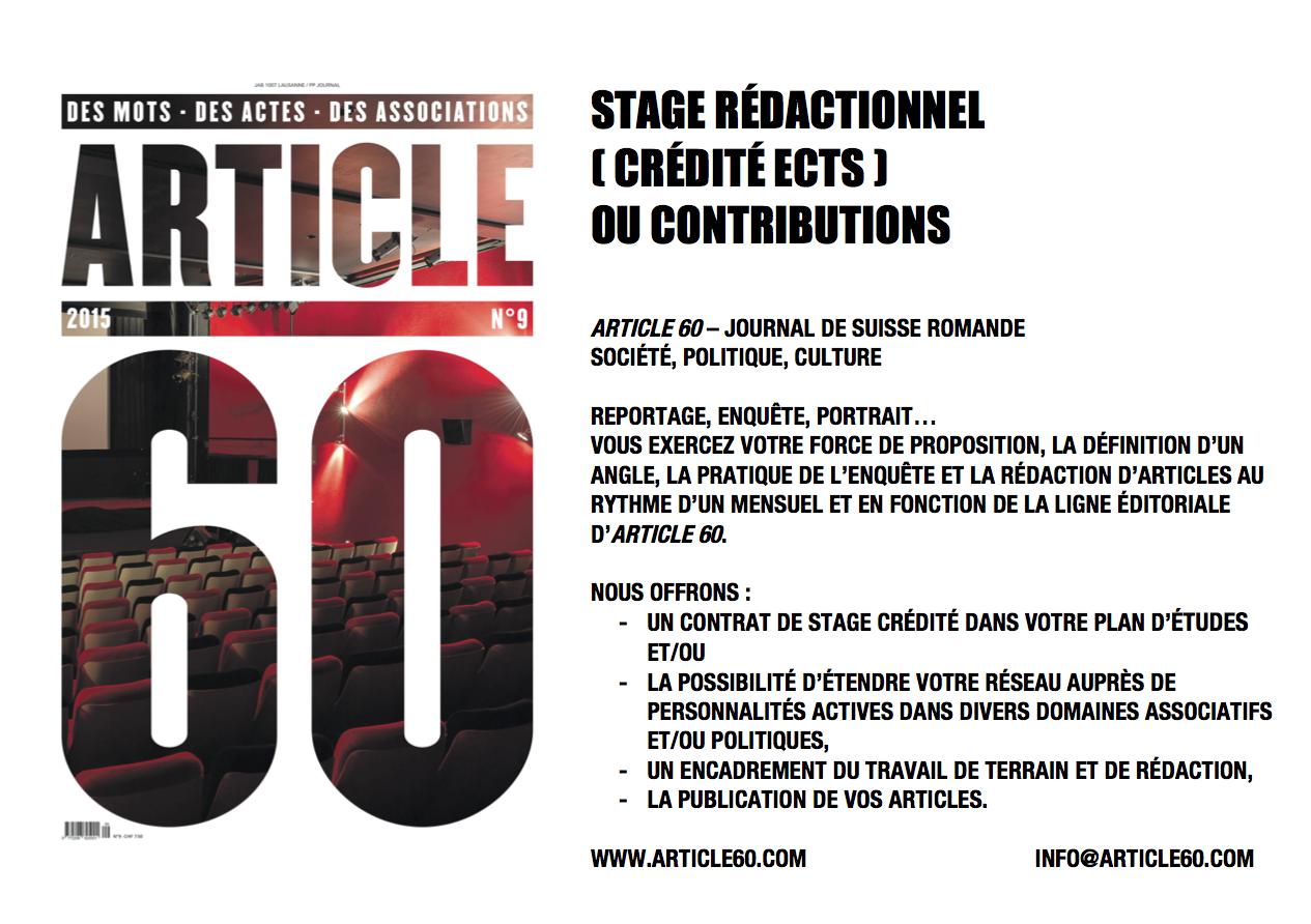 Article 60_Stage rédactionnel